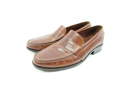 Cole Haan Mens Size 10.5 Douglas Brown Leather Slip On Penny Loafers Sho... - $29.65