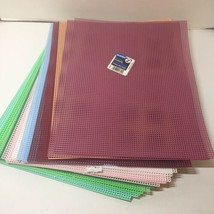"27 Sheets Plastic Canvas Assorted Colors 10.5"" x 13.5"" Darice 7 Mesh - $38.69"