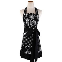 Cotton Fabric Women's Apron with 2 Pockets-Extra Long Ties, Home Baking ... - $20.13