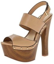 Women's Shoes Jessica Simpson Dallis Slingback Platforms Studs Leather A... - $79.19