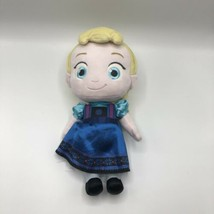"Disney Store Frozen Toddler Elsa Doll 12"" Plush Ice Princess Blue Dress Toy - $14.84"