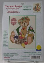 "Cherished Teddies Cross Stitch GARLAND A Christmas Carol 5 x 7"" Hillman ... - $9.50"