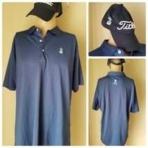 more photos 48047 87162 Peter Millar Golf Hemd Dunkelblau Kurzarm Polo & Titleist Mütze XXL -  $99.65