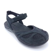 Merrell Womans Siren Wrap Ankle Strap Sandal Black Nubuck Cushioned Sz 5... - $43.32
