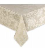 "New Holiday Joy Damask Flower Oblong Tablecloth Ivory 60""x84"" - $35.93"