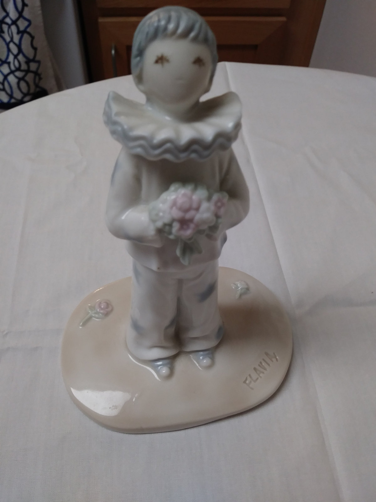 "Vintage ""The Clown"" created by Flavia Weedn figurine made 1983 in Japan by Roman"