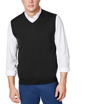 Club Room Men's Basic Knit Sweater Vest Black Medium - $23.76