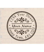 custom name self inking business family wedding return address rubber st... - $7.91