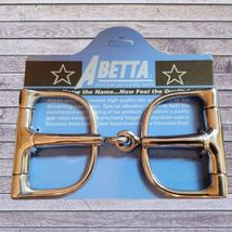 """Abetta Pinchless D Ring Snaffle Bit 5"""" Mouth image 1"""