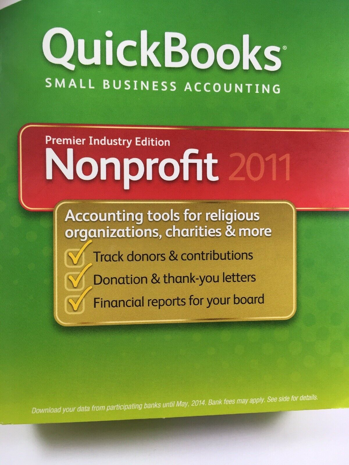 Quickbooks Premier Industry Edition Nonprofit 2011 Windows 7, Vista, XP image 9