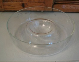 Princess House Heritage Hand Blown Crystal Chip and Dip Bowl 401 W/box 1988 - $17.81