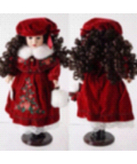 Victorian collection doll in winter attire  - $125.00