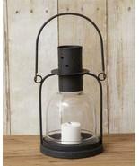 Black Iron new small Candle Lantern w/Led Candle - $24.99