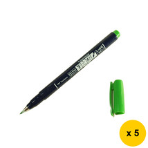 Tombow Fudenosuke WS-BH07 Hard Tip Calligraphy Pens (Pack of 5) - Green - $19.99