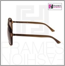 GUCCI GG1094S Aviator Brown Translucent POLARIZED Sunglasses Unisex 1094 1090  image 2
