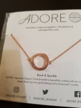 Adore by Swarovski® Organic Circle Bracelet in Rose Gold $39 Value FABFI... - $8.50