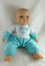 "Berenguer Doll 14"" Baby iCloth body vinyl head feet hands blue eyes cute... - $14.84"