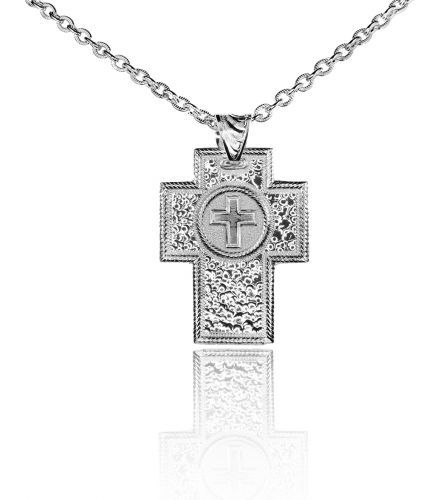 Montana Silversmith Silver Cross Necklace on chain