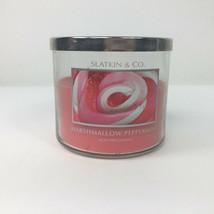 Slatkin & Co MARSHMALLOW PEPPERMINT 14.5 oz 3 Wick Candle  Bath & Body W... - $19.67