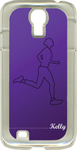 Monogrammed Purple Runner Design on Samsung Galaxy S4 Hard or Rubber Case Cover - $15.95
