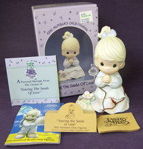 Precious Moments Sewing the Seeds of Love Girl with Flower PM 922 Member... - $12.59