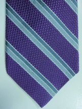 NEW Brooks Brothers Purple With Stripes in Grays Skinny Silk Tie Made in USA - $44.99