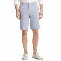 NEW Mens IZOD Classic Fit Flat-Front Corded Stripe Shorts True Blue MSRP... - $25.00