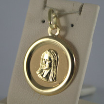 SOLID 18K YELLOW GOLD MEDAL PENDANT,VIRGIN MARY MADONNA, LENGTH 1,06 IN image 2