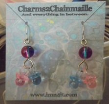 Pink and Blue Pacifier Baby Earrings - $15.00