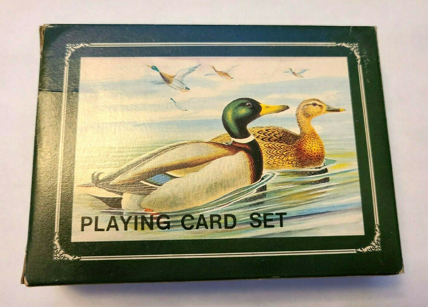 Mallards Metal Box Double Deck Playing Cards