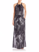 Elie Tahari York Silk Cocktail Maxi Dress US L - $395.00