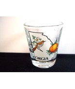 Georgia souvenir shot glass map peach Brown Thrasher - $7.25