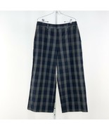 Women's Blue 1901 Navy Plaid Tory Wide Leg Pants, sz 14 - $32.90