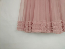 Pink Layered Tulle Ruffle Skirt Pink Bridesmaid Tulle Skirt Plus Size image 8