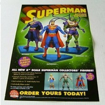 2002 Superman 17x11 inch DC Direct action figure promo POSTER:Bizarro/Br... - $29.69