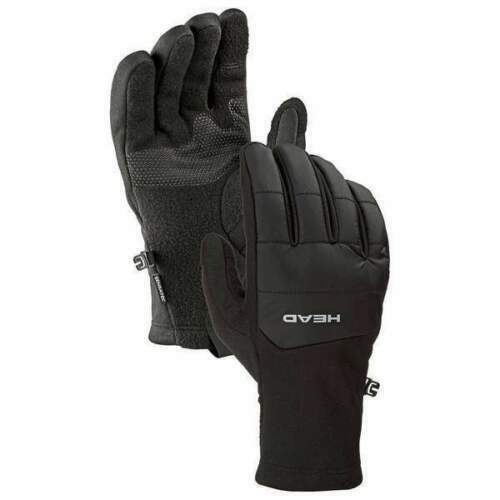 HEAD Men's Black Ultrafit Sensatec Touchscreen Fleece Lined Running Gloves