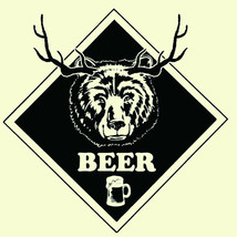 BEER T-shirt Bear Deer funny hunting novelty 100% cotton graphic tee image 2