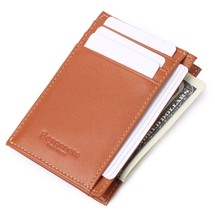 Men's Genuine Leather Front Getaway Pocket Wallet Small Cred - $17.17