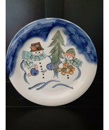 """Winterland Christmas by Tabletops Unlimited~ Round Dinner Plate 10.5""""~ 2... - $9.89"""