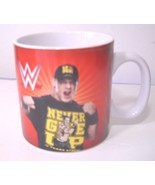 WWE John Cena Coffee Large Mug Cup 2014 Never give up 10 years strong - $10.65