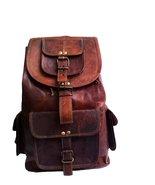 """18"""" Leather Backpack Travel rucksack knapsack daypack College Bag for me... - $72.45"""