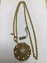 Auth Chanel Halskette Gelbgold Vergoldete Charm Perle cc Logo CN0277 - $776.51