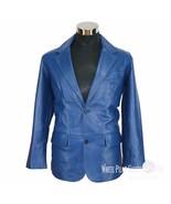 Mens leather Blazer Single Breasted jacket 2 button Suit Cut lapel Gents... - $194.22+