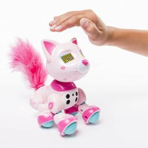 Zoomer Meowies Chic Interactive Kitten Lights Sounds & Sensors Spin Mast... - $27.99