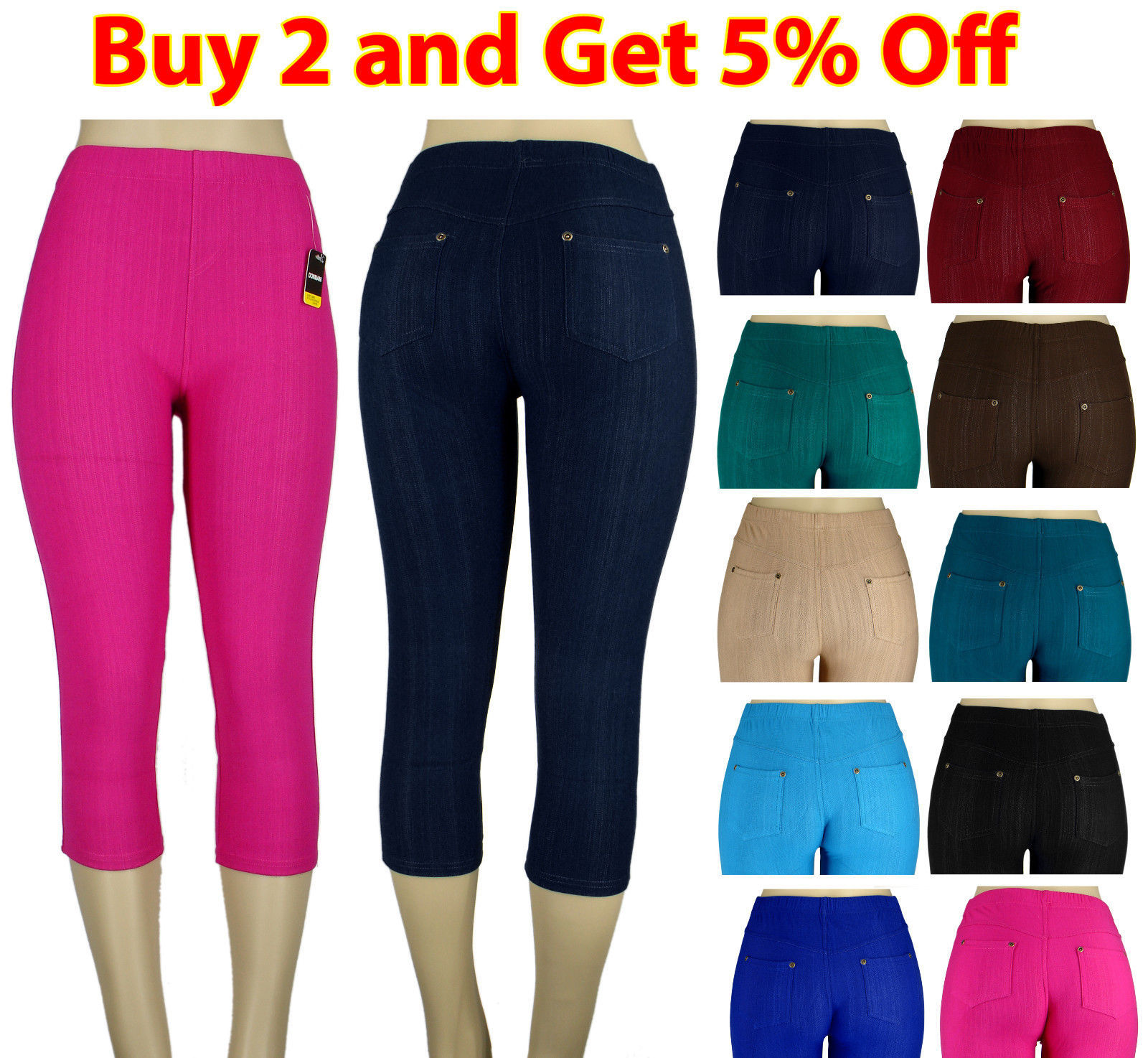 25b1771a63e6a S l1600. S l1600. Previous. NEW WOMEN SKINNY COLORFUL CAPRI JEGGINGS  STRETCHY SEXY PANTS SOFT LEGGINGS JEANS