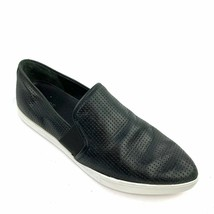 """VINCE """"Pierce' Black Perforated Leather Pointy Slip-On Sneakers Size 9.5 US - $34.64"""