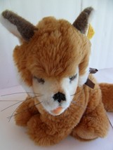 Steiff fox with button flag stuffed animal  made in  Germany 1556 - $47.49