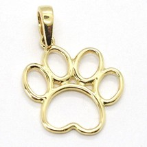 Yellow Gold Pendant 750 18K, Foot Paw Cat, Dog, Perforated image 2