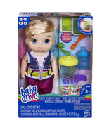 Hasbro Baby Alive Sweet Spoonfuls Baby Boy Blonde Hair food set and diaper - $40.00