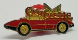 Vtg Little Red Corvette Classic Car Stingray Hat Tie Pin Chevy Chevrolet... - $17.41